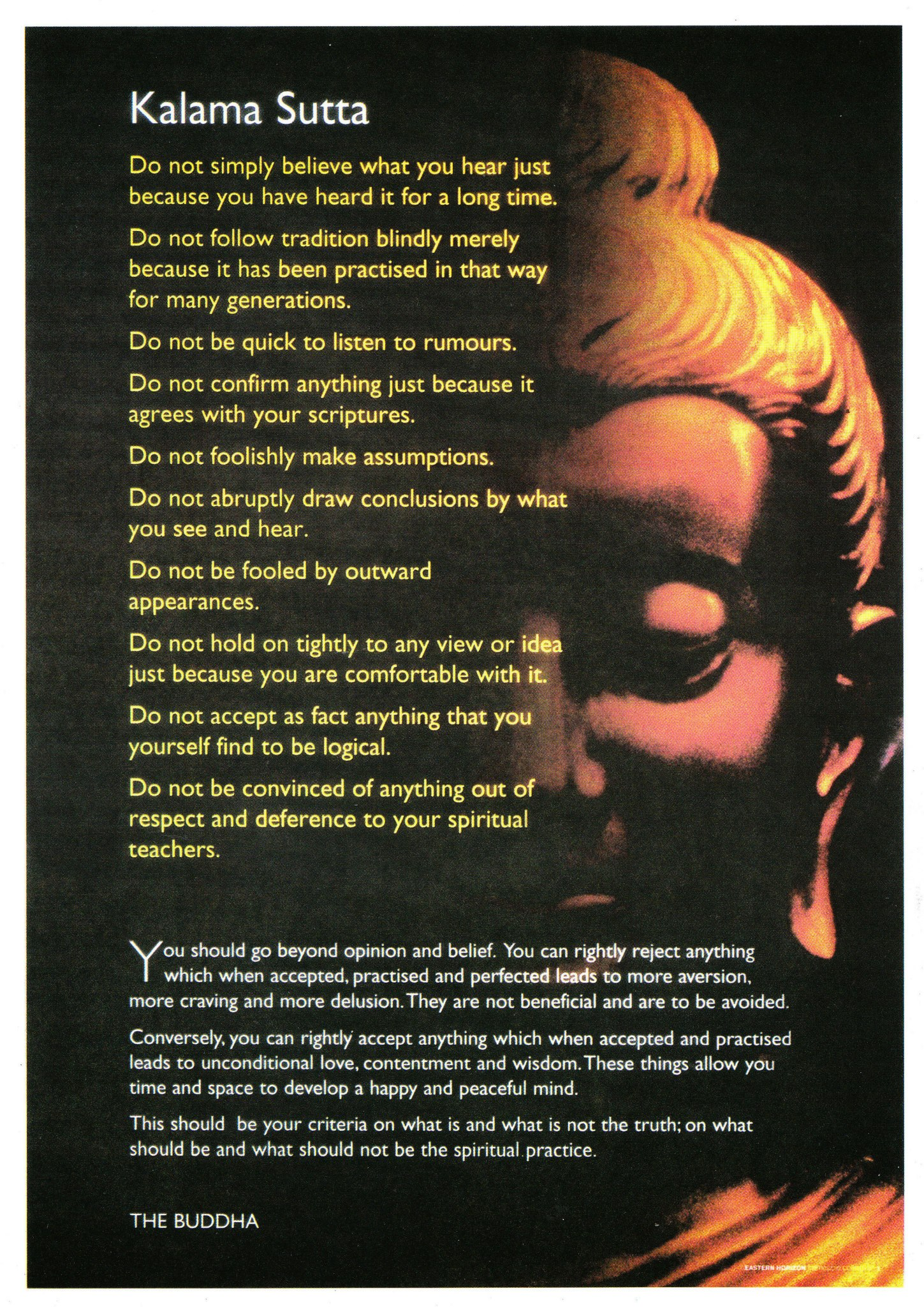Real Buddha Quotes The Real Kalama Sutta In Response To Fake Buddha Quotes
