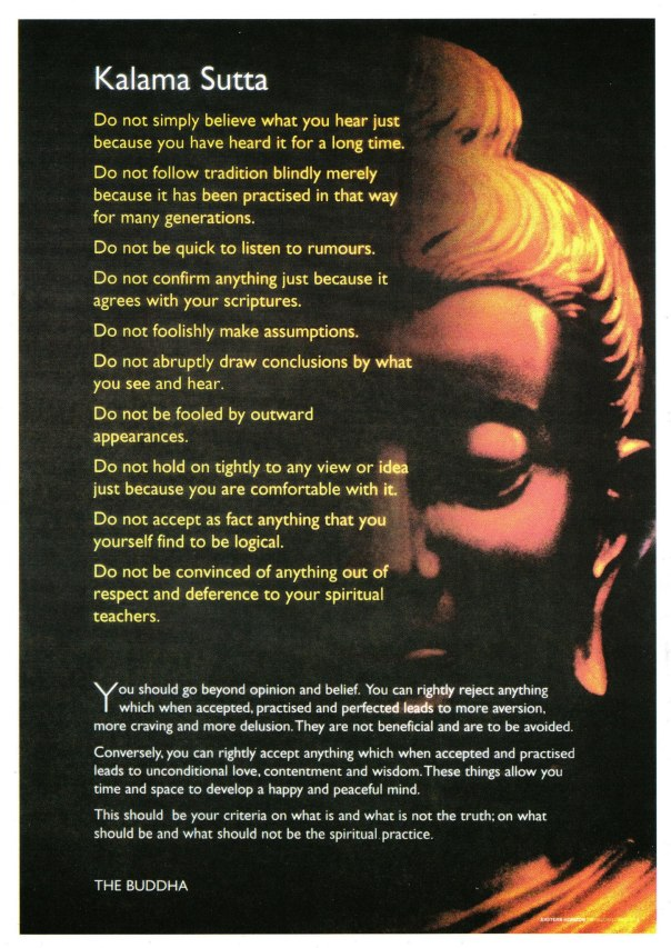 The REAL Kalama Sutta, in response to FAKE BUDDHA QUOATE