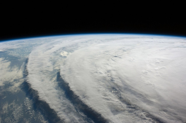 Satellite Image of hurricane ike